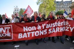 Le Front de Gauche aux côtés des manifestants du 1er mai 2012 à Paris