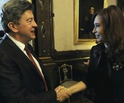 Jean-Luc Mélenchon, Député européen, reçu par la présidente de l'Argentine