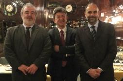 Rencontre avec Ruben Zarate, Ministre des Sciences et des Technologies du Gouvernement de la Province de Chubut en compagnie du député Marcelo Brignoni, Buenos Aires 10 Octobre 2012