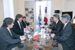 Rencontre avec Amado Boudou en compagnie du député Marcelo Brignoni et du camarade Arnaldo Piñon membre du Parti de Gauche en Argentine, Buenos Aires, 11 Octobre 2012