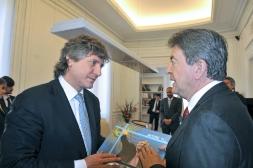 Avec Amado Boudou, Vice président de la Nation Argentine, au Sénat de la République, Buenos Aires 11 Octobre 2012