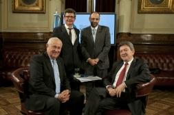 Avec le député socialiste Oscar Uruty et le Premier Intendant Socialiste Hector Cavallero, accompagné de Marcelo Brignoni, Congrès de la Nation Argentine, 11 Octobre 2012