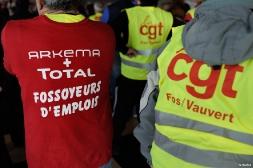 Aux côtés des ouvriers en lutte d'Arkema dans le Rhône