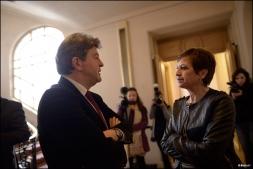 Avec Eliane Assassi, sénatrice PCF