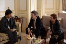 Avec Evo Morales, président de la Bolivie