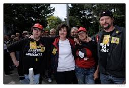 Des salariés de Fralib venus soutenir leurs collègues