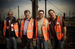Visite aux cheminots de la gare de Villeneuve-Saint-Georges dans le Val-de-Marne
