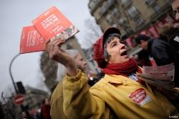 Le Front de Gauche dans la manifestation contre l'austérité à Paris