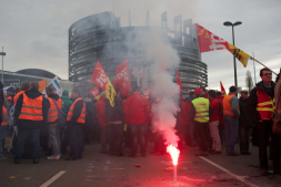Manifestation contre la privatisation du rail