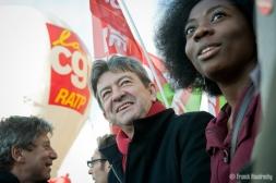 Dans la manifestation parisienne contre l'austérité