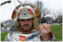 Manifestations des sidérurgistes d'ArcelorMittal à Strasbourg