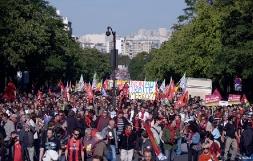 Manifestation contre le traité TSCG