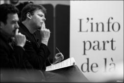 Edwy Plenel et Frédéric Bonnaud (Mediapart)