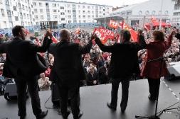 Rencontre avec les salariés de SeaFrance et meeting place du Minck à Calais