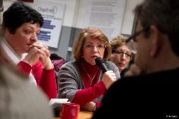 Rencontre avec des femmes déléguées d'entreprises en lutte