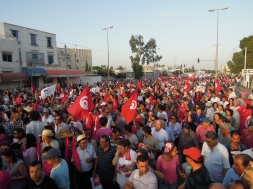 Marche commémorative des 40 jours depuis l'assassinat de Mohamed Brahmi