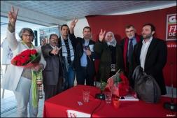 Solidarité avec la révolution tunisienne