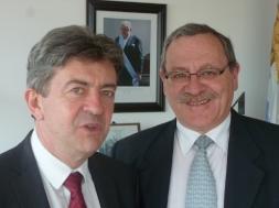 Avec le ministre de l'éducation et de la culture l'Uruguay, Ricardo Ehrlich, Montevideo 16 Octobre 2012