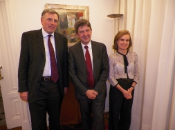 Avec Jean-Christophe Potton, Ambassadeur de France et Catherine Potton.