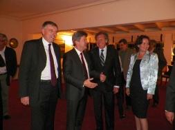 Avec Jean-Christophe Potton , Ambassadeur de France,  Luis Almagro, Ministre des Relations extérieures, et Mme Almagro.