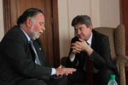 Avec le député et responsable international du Frente Amplio José Bayardi, siège du Frente Amplio, Montevideo, 17 Octobre 2012