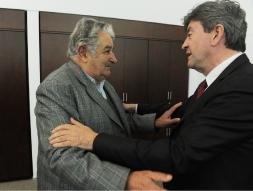 Avec le Président de la République Orientale de l'Uruguay, José Mujica.