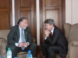 Avec  José Bayardi, député et responsable international du Frente Amplio.