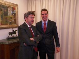 Avec  Stéphane Toulet, Premier conseiller, Ambassade de France en Uruguay.