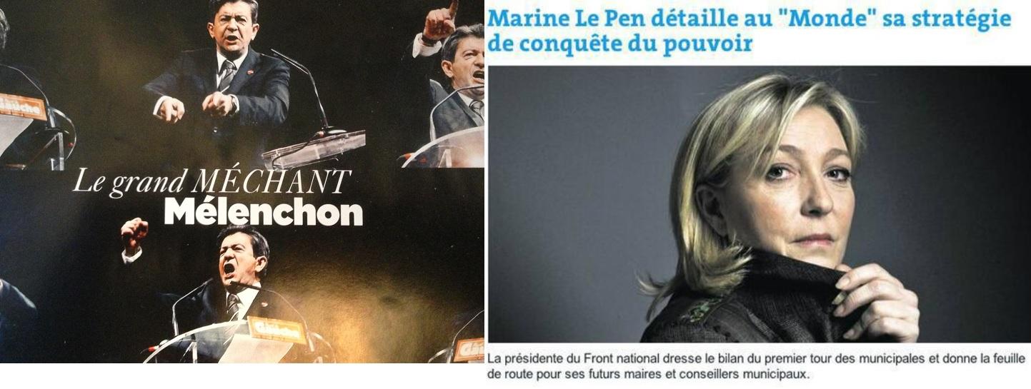 """A gauche, la couverture du magazine du """"Monde"""" du 4 mai 2013. A droite, illustration d'un article du """"Monde"""" du 28 mars 2014."""