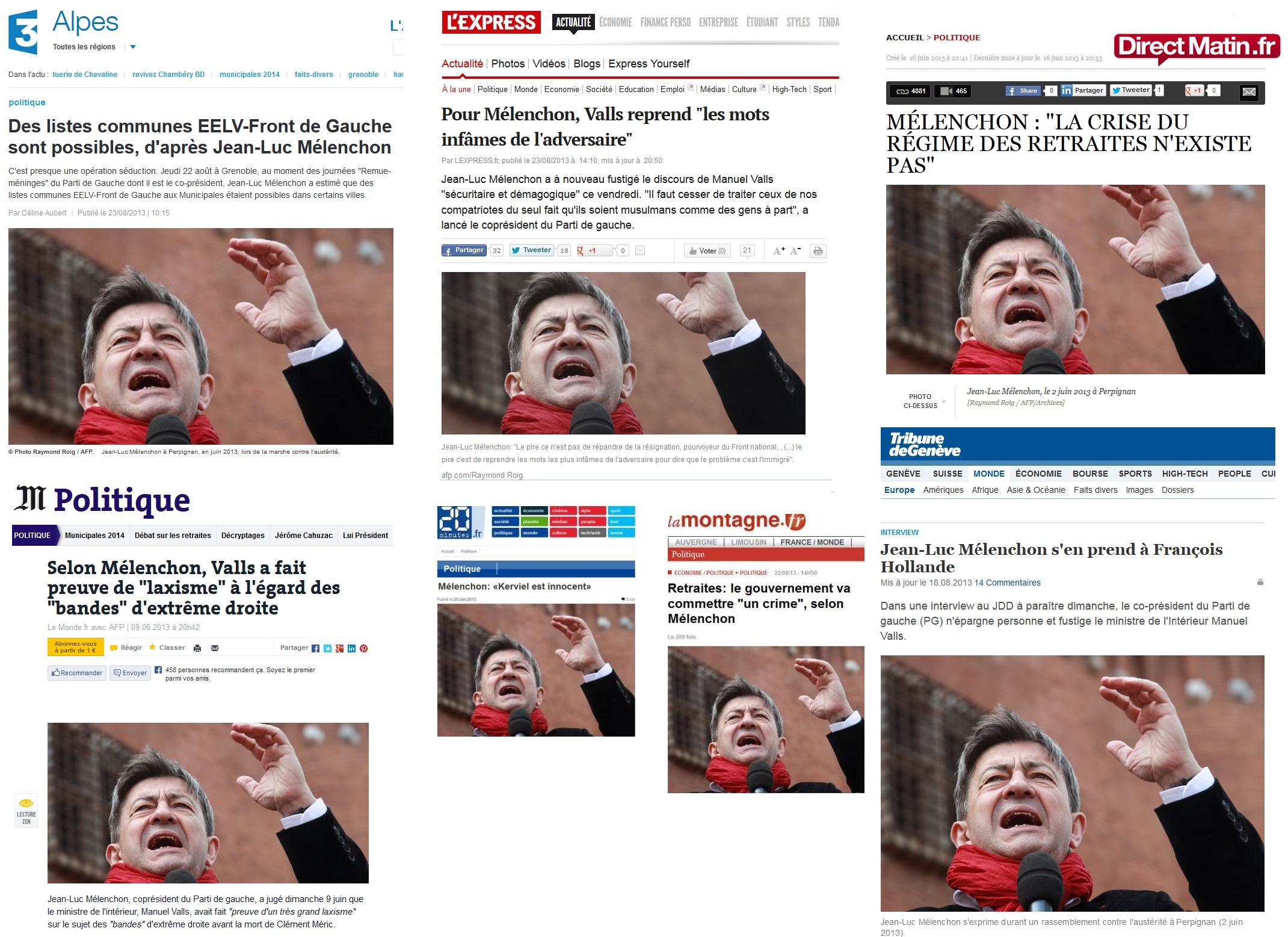 Montage effectué à partir d'articles de France 3, L'Express, Direct Matin, Le Monde, 20 Minutes, La Montagne et La Tribune de Genève.