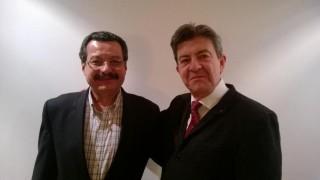 Avec mon camarade Carlos Lozano, observateur crucial du processus de paix en Colombie