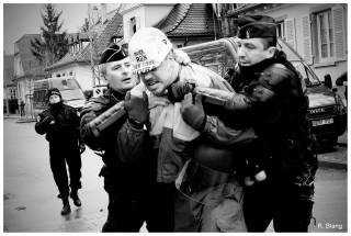 Manifestation des sidérurgistes d'ArcelorMittal à Strasbourg le 6 février 2013. Photos : Remy Blang