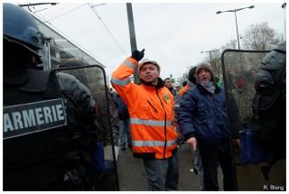 Manifestation des sidérurgistes d'ArcelorMittal à Strasbourg le 6 février 2013